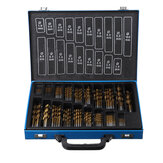 230Pcs 1mm-10mm HSS Engineering Presion Drill Bit Set Assorted Kit Metal Case