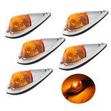 5db 12V fülke tető világossárga jelző figyelmeztető futólámpa alapházzal autó teherautó kisteherautó teherautó