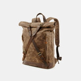Men Vintage Canvas Anti-theft Waterproof Travel Bag Backpack Camping Bag