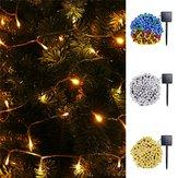 Movido a energia solar 10 M 8 Modos 70 LED String Luz Ao Ar Livre Do Natal Do Feriado Do Jardim Da Lâmpada