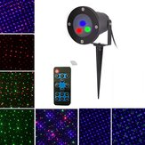 Mini Christmas Outdoor RGB Dynamiczny projektor laserowy Stage Party Light Lawn Garden Decor