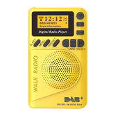 DAB+ Digital FM 174–240MHz Radio LCD Display SD Card Speaker Music MP3 Player Loudspeaker