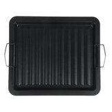 BBQ Grillpfanne Stahlplatte Antihaft-Grillplatte Kochbratpfanne