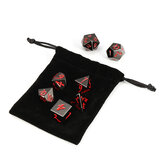 7 Pcs de Metal Antigo Poliédrico Dices Multisided Dices Set Role Playing Game Dice Com Bolsa