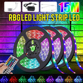 32FT 15M RGB LED Strip Light 3528 Lampe à bande flexible étanche / non étanche DC12V + 44 Keys Télécommande + Alimentation