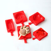 KCASA KC-BM6 Creative Silicone Ice Cream Moule Ice Pops Tray Biscuits au moulage au chocolat Moule Ice Lolly
