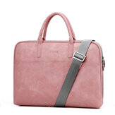PU Leather Business Briefcase Laptop Bag Handbag Shoulders Storage Bag with Power Pack Bag for 15.6 17.3inch Notebook