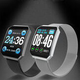 Bakeey M101 Full Touch Square Wristband Blood Pressure Oxygen Monitor Music Control Watch Face Change Smart Watch