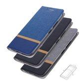 Bakeey Flip Stand Steel Layer Canvas Patrón PU Cuero Protector completo Caso Para ASUS Zenfone Max (M1) / ZB555KL