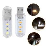 पावर बैंक नोटबुक DC5V के लिए पोर्टेबल मिनी SMD5730 0.8W USB एलईडी कठोर कैम्पिंग नाइट लाइट