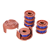 6+2 String Trimmer Spool Replacement for WORX WA0010 10ft 0.065 Inch Auto Feed Cordless Weed Eater Spools Line with WA6531 GT Cap Covers Parts