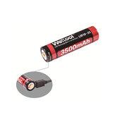 Weltool UB18-35 1 stuks 3500mAh USB oplaadbare 18650 batterij voor zaklamp elektrische fiets