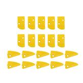 20шт Желтый пластиковый безщеточный защитный палец и треугольные вставки для шин