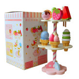 New Wooden Kids Play Toy House Strawberry Ice Cream Stand 1 Set