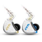 CCA C12 1DD + 5BA سماعات أذن HIFI سماعة أذن معدنية 3.5 ملم مطلية بالذهب المكونات 12 وحدة سماعات رياضية تسيطر عليها الأسلاك