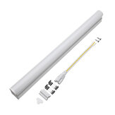 T5 5W 30cm 2000lm SMD 2835 LED Transparent Clear Cover Tube Fluorescerende Lampe AC220V