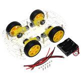 DIY 4WDスピードエンコーダ付きダブルデッキスマートロボット車シャーシキット