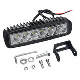 12V 18W 6 LED Wodoodporne reflektory LED Flood Work Light Motorcycle Truck Boat Lampa kempingowa