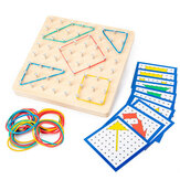 Монтессори Традиционная обучающая геометрическая головоломка Шаблон Обучающая Школа Домашняя игровая игрушка для детей в подарок
