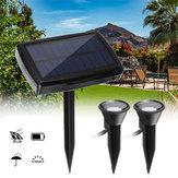 Zonne-energie Dual Spot Light Outdoor Tuinlandschap Spotlight Yard Lawn Lamp