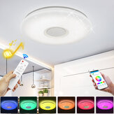 16'' WIFI Smart LED Ceiling Light RGB bluetooth Music Speaker Dimmable Lamp