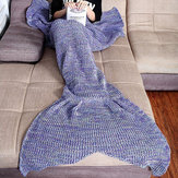 Honana WX-37 180x90cm Tricô Mermaid cauda cobertor Home Office Acrílico Fibras Warm Soft Sleep Bag
