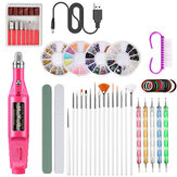 50 Pcs / Set Manucure Set Électrique Nail Drill Machine Set avec USB nail Ponçage Pen Set Nail Stick Drill Kits
