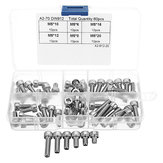 Suleve™ M5SH1 60Pcs M5 Stainless Steel 6-20mm Hex Socket Cap Head Screw Allen Bolt Assortment Kit