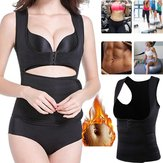Women Neoprene Sauna Vest Adjustable Waist Trainer Belt Body Shaper Fat Burner Fitness Slimming Vest