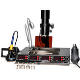 YIHUA 1000B 110V / 220V 4 in 1 Infrared Bga Rework Station SMD Hot Air Spear + 75W Soldering Iron + 540W Preheating Station