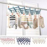29 Clips Cloth Folding Laundry Underwear Socks Bra Airer Hanger Drying Rack Organizer