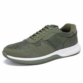 Homens Outdoor Sports Microfiber Leather Confortável antiderrapante Casual Sneakers