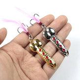 ZANLURE 6Pcs/Set 10g Gold/Sliver Sequins Spoon Hard Metal Lure Rocking Fishing Wobblers Spinner Fishing Lure