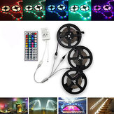 15M SMD3528 Vandtæt RGB 900 LED Strip Tape Light Kit + 44 Keys Controller + Kabelstik DC12V