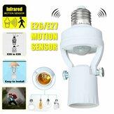 110-240V Infrared Motion Light Sensor Intelligent Bulb Lamp Base Switch E26/E27