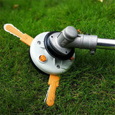 Dual Use Grass Trimmer Head Plastic Chain Saw with Nylon Line Cutter for Lawnmower Brush Cutter