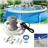 220V Swimming Pool Filter Pump 300 GPH Pump Flow Rate Summer Swimming Pool Water Filter Clean Dirty Pumps