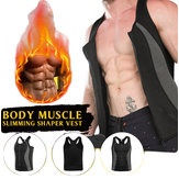 Men's Neoprene Vest Sauna Suit Shaped Vest Heat Sweat Increase Energy Consumption Keep Fit Fitness Shirt With Zipper