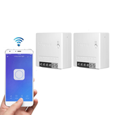 2pcs SONOFF MiniR2 Two Way Smart Switch 10A AC100-240V Works with Amazon Alexa Google Home Assistant Nest Supports DIY Mode Allows to Flash the Firmware