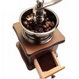 Retro inoxidable multifunción manual grano de café molinillo de madera de nuez molino grinding mano herramienta