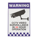 Waarschuwing CCTV Security Surveillance Camera Decal Sticker Teken 66mmx100mm Intern