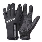 Touch Screen Wrist Winter Wind-proof Warm Fleece Lining Skiing Full Finger Cycling Gloves