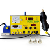 YAOGONG 909S AC110V / 220V Autocut Hot Air 3 in 1 DC Power Supply Soldering Rework Station