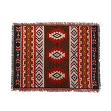 Dekoracja domu Aztec Navajo Mata na ręczniki Rzuć Wiszące Wiszące Dywany Bawełniane Geometria Tkana 130 * 160 cm