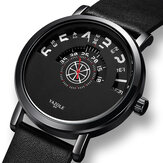 Yazole Casual Hollow Dial 3ATM Waterproof Men Quartz Watch Wristwatch