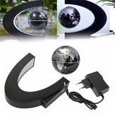 C shape LED World Map Magnetic Levitation Floating Globe Light Home Decoration Toys