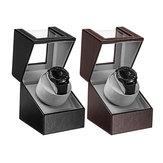 Relógio Automático de Exibição Caso Rotação Relógio Enrolador Ajustável Display Holder Armazenamento Caixa Mute Motor Watch Caixa