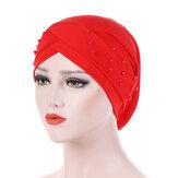 Buena Elastic Polyester Earmuffs Chemo Caps para mujer