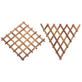 壁掛けフラワーポット棚植物スタンドグリッドバック木製ホームガーデンデコレーション
