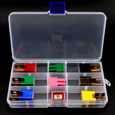 9Pcs 30-100A ABS+Copper Auto Male Female Fuse 7 Colors PAL Replacement Accessories